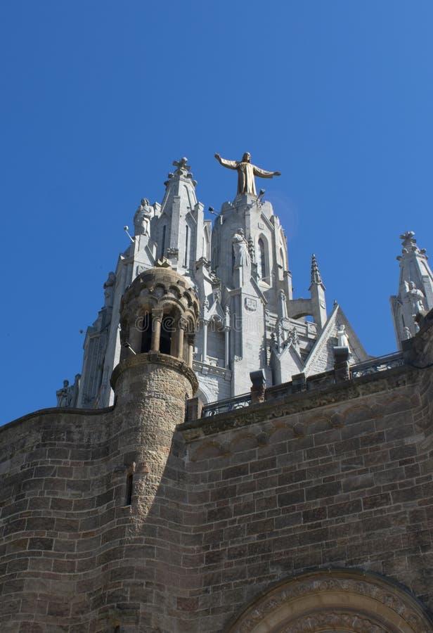 La bellezza del tempio del cuore sacro a Barcellona fotografie stock libere da diritti