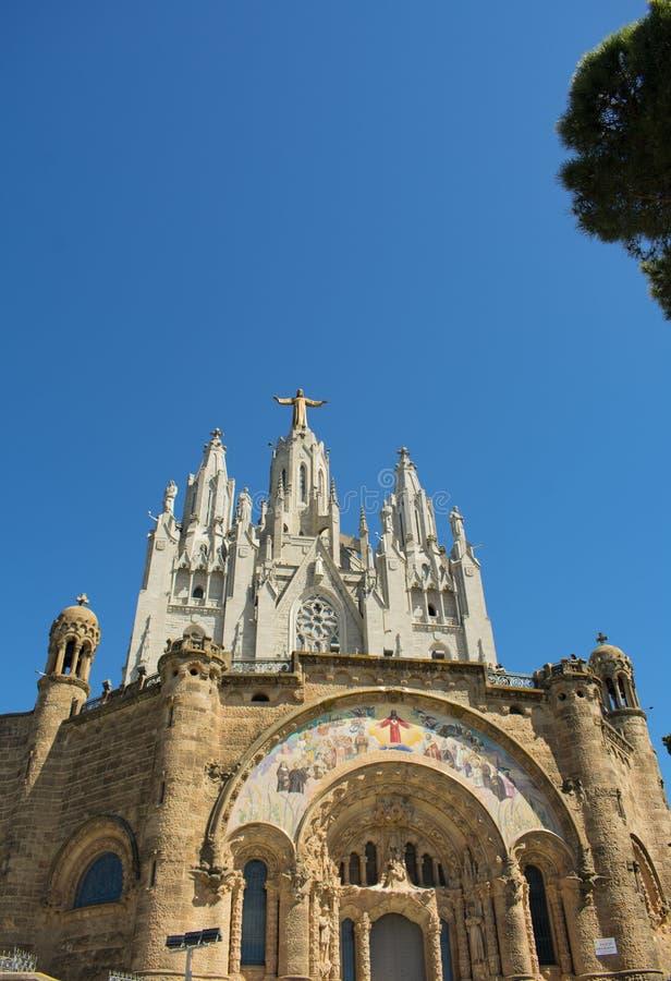 La bellezza del tempio del cuore sacro a Barcellona immagini stock libere da diritti