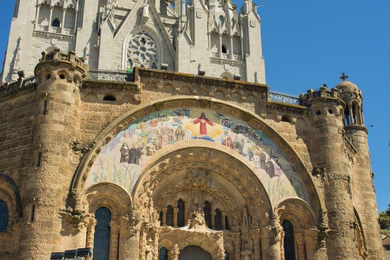 La bellezza del tempio del cuore sacro a Barcellona immagine stock