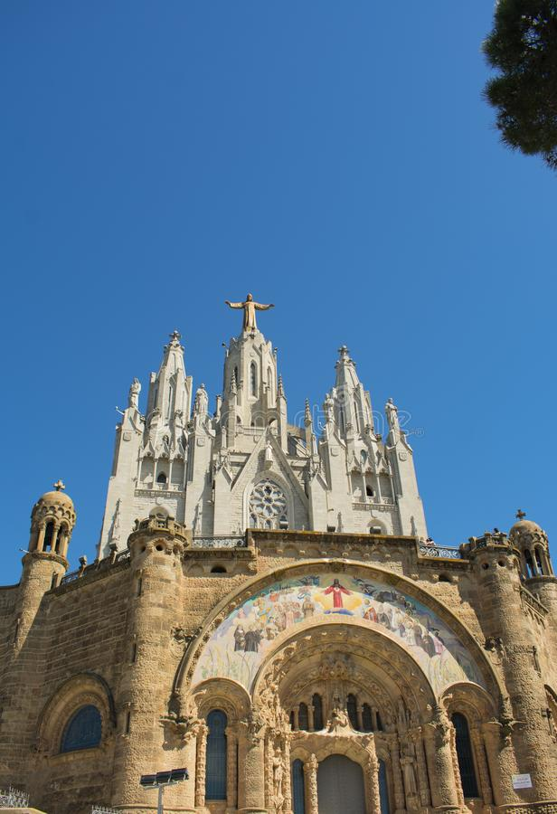 La bellezza del tempio del cuore sacro a Barcellona fotografia stock