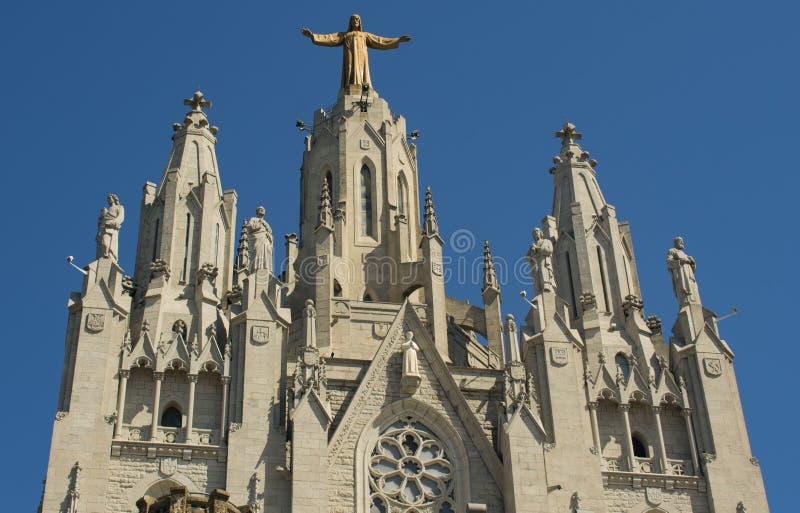 La bellezza del tempio del cuore sacro a Barcellona fotografia stock libera da diritti