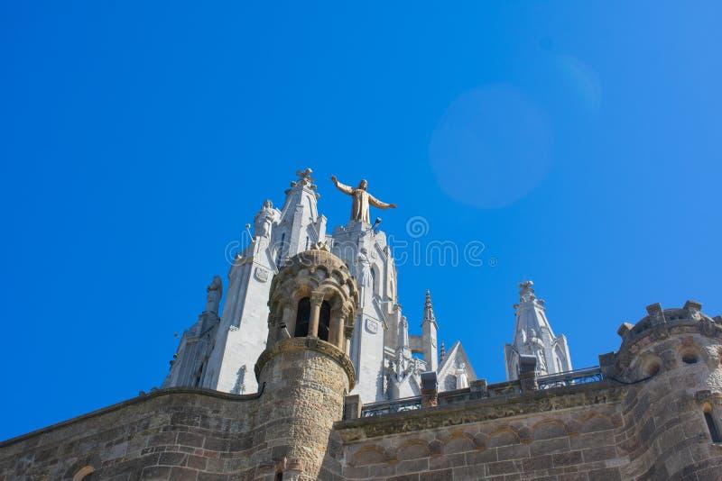 La bellezza del tempio del Sacro Cuore di Barcellona fotografie stock libere da diritti