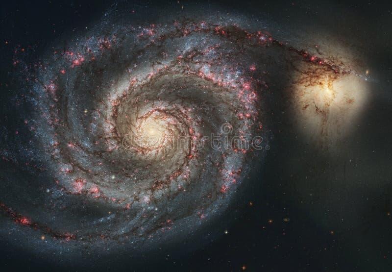 La bellezza dell'universo: Galassia enorme e dettagliata del mulinello fotografia stock libera da diritti