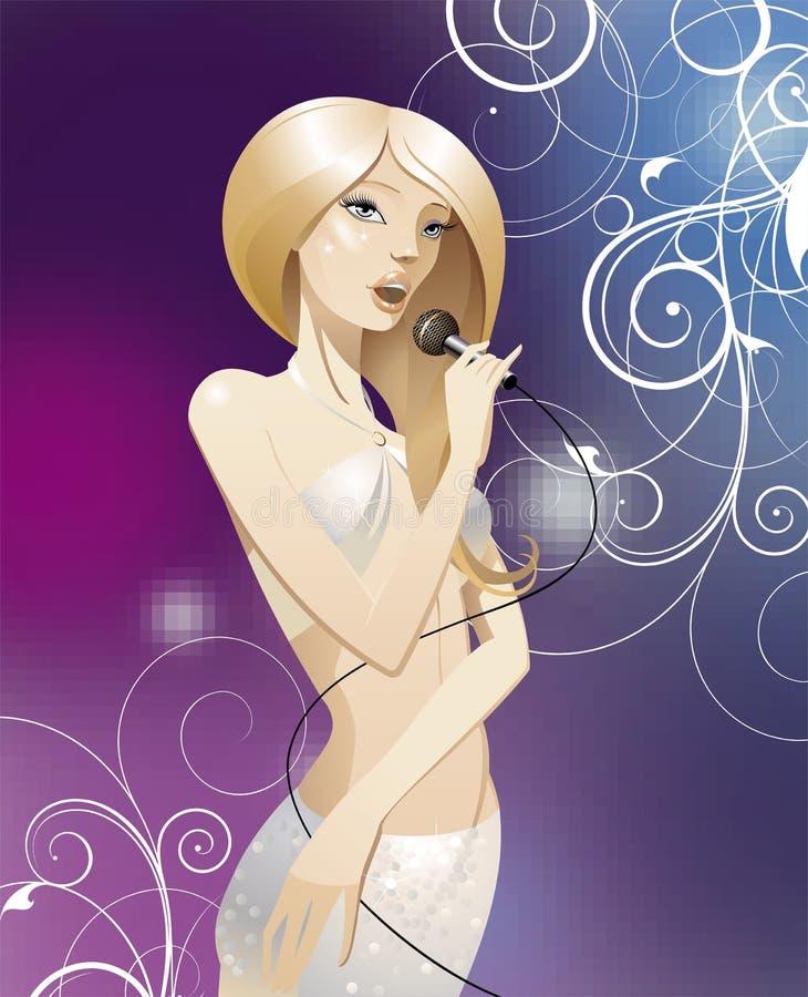 La bellezza di canto royalty illustrazione gratis