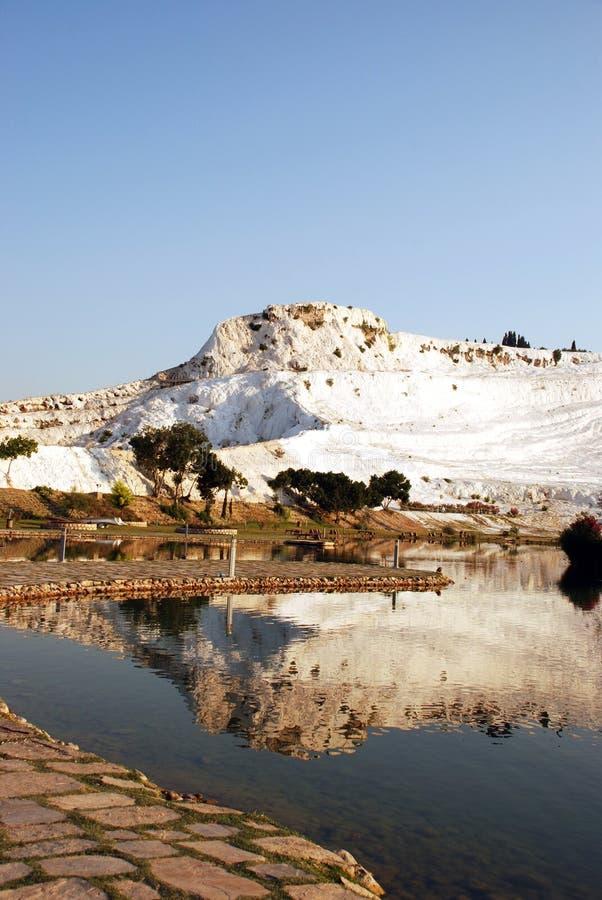 La bellezza di PamukKale, Turchia fotografia stock