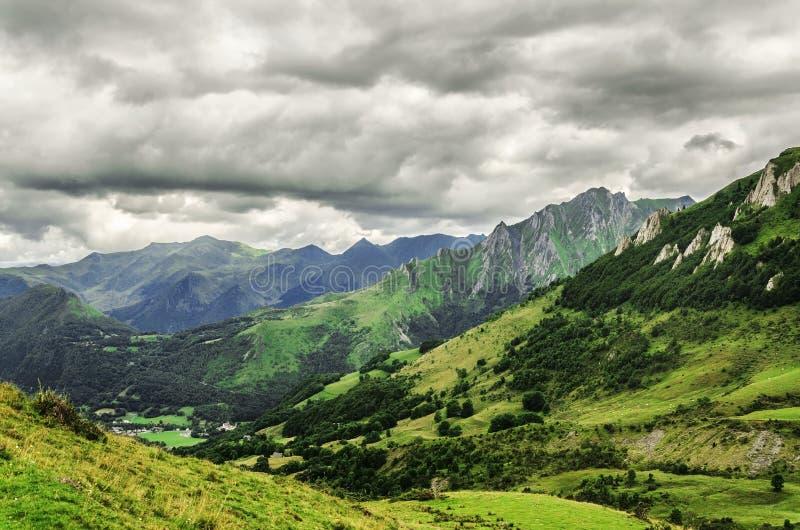 La bellezza di Pirenei fotografia stock