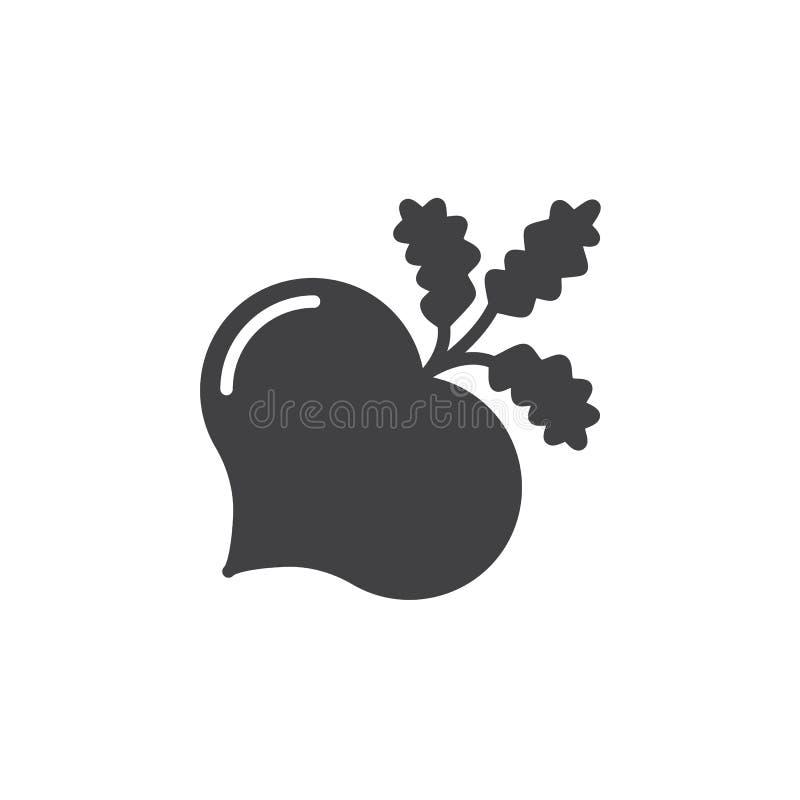 La betterave, vecteur d'icône de betteraves, a rempli signe plat, pictogramme solide d'isolement sur le blanc illustration libre de droits