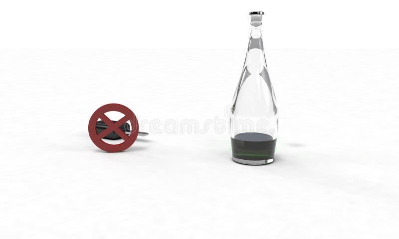 La bevanda del ` t di Don e l'azionamento, il concetto, 3d rendono royalty illustrazione gratis