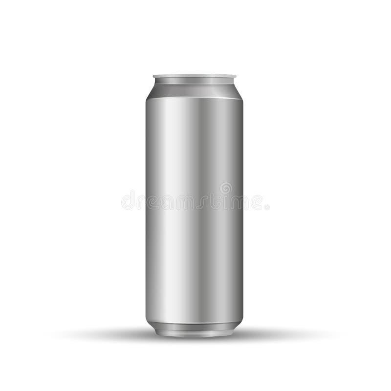 La bevanda di Aliminum può isolato su fondo bianco Illustrazione di vettore illustrazione di stock
