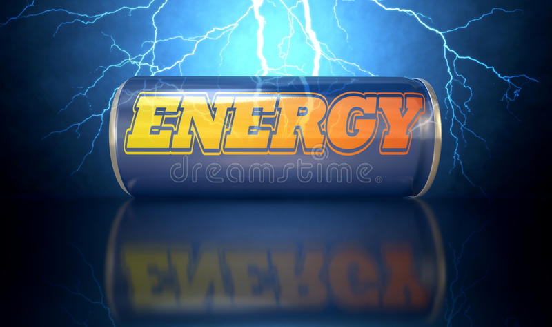 La bevanda di energia può royalty illustrazione gratis