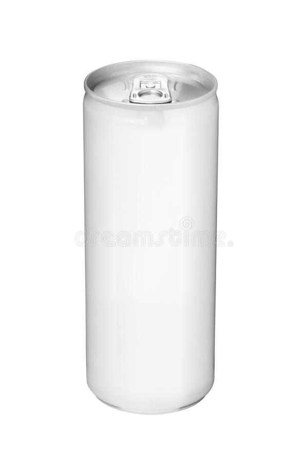 La bevanda può da alluminio in bianco fotografia stock