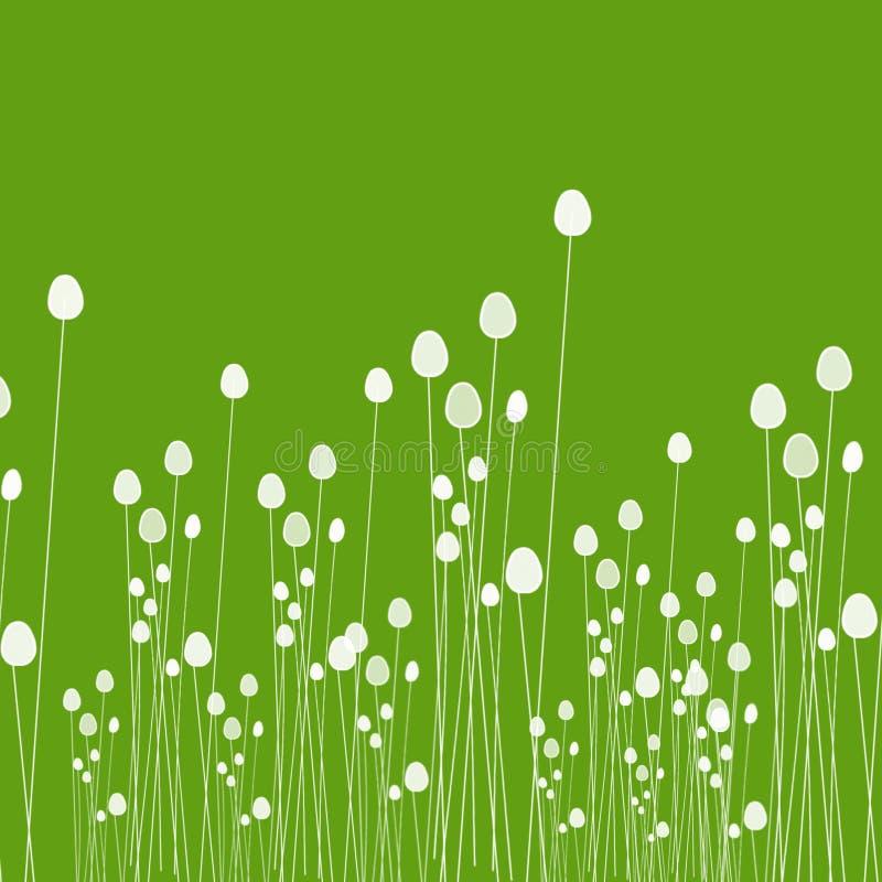 La BG verte avec des tiges de riz images libres de droits