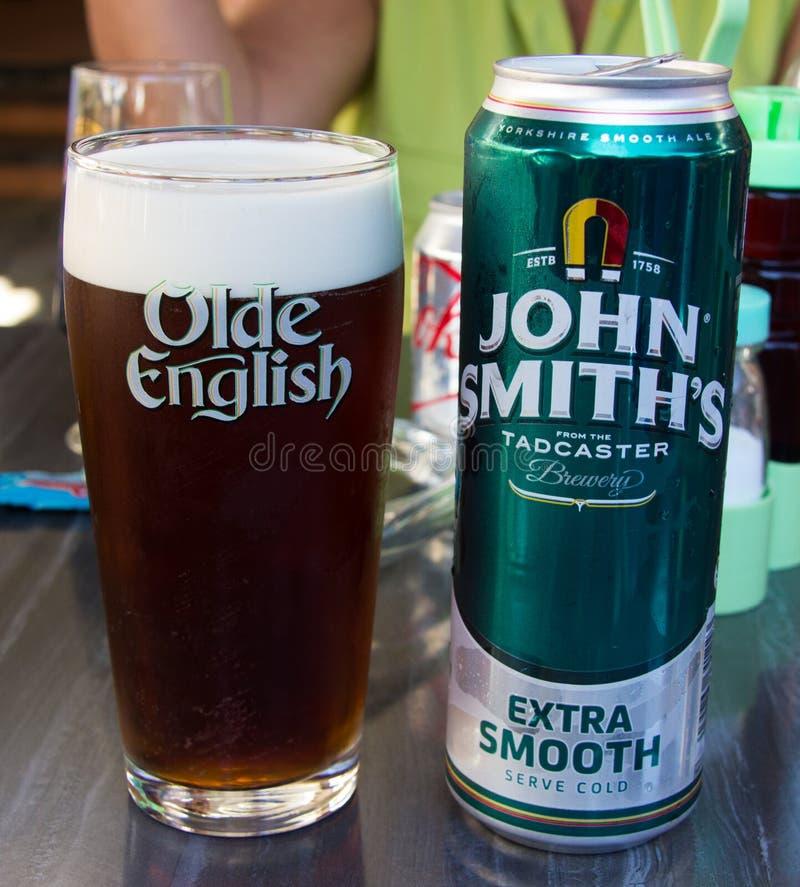 La bière anglaise de John Smith photos libres de droits