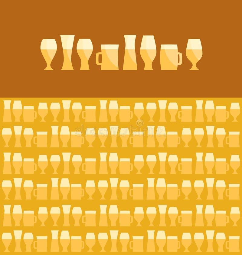 la bière a assorti illustration libre de droits