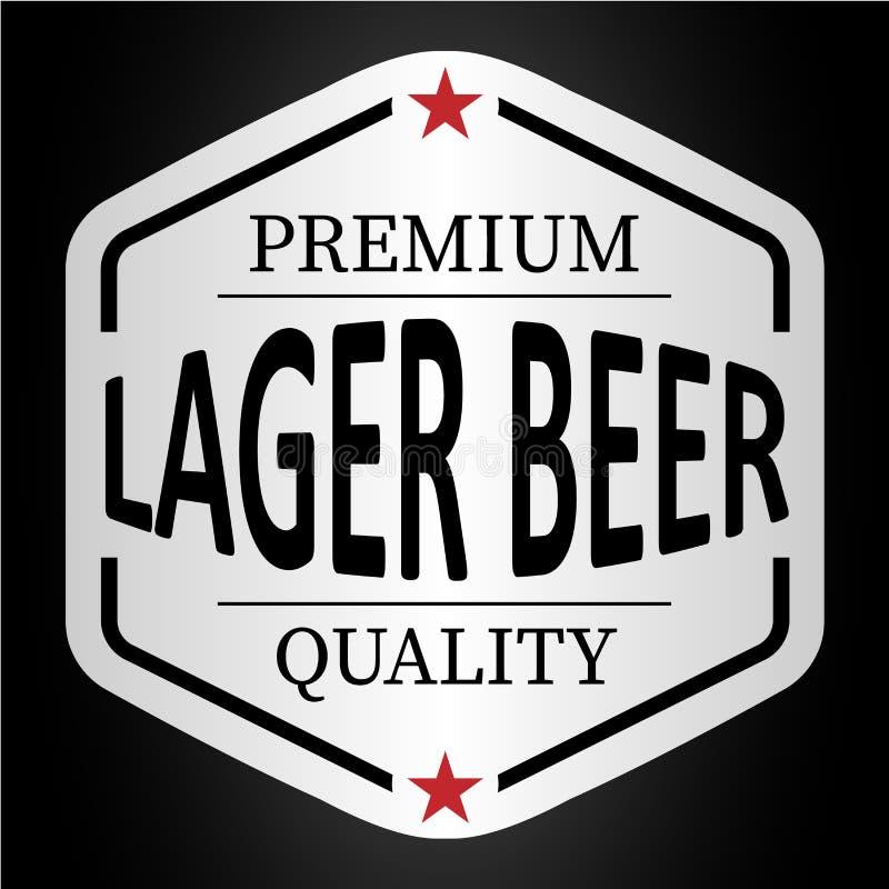 La bière blonde de qualité de la meilleure qualité a servi ici l'autocollant d'insigne de logo illustration stock