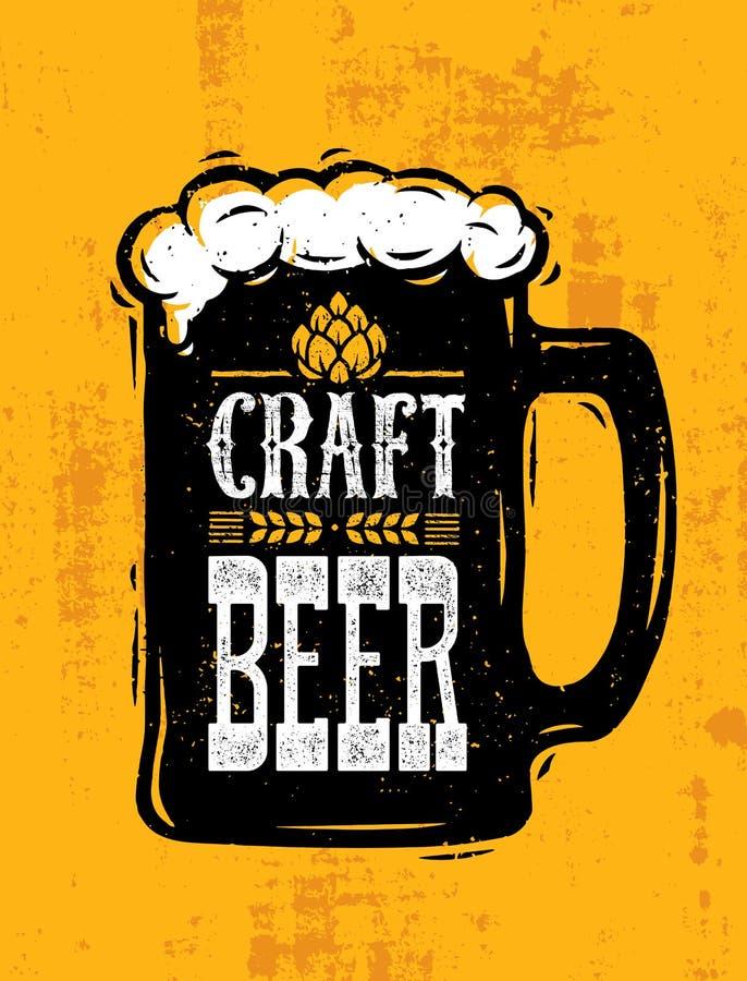 La bière de métier a vendu ici la bannière rugueuse Concept de construction d'illustration de boisson d'artisan de vecteur sur le illustration de vecteur