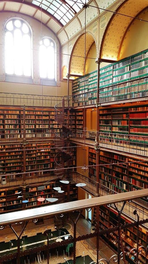 La biblioteca de investigación de Rijksmuseum, Amsterdam imagen de archivo libre de regalías