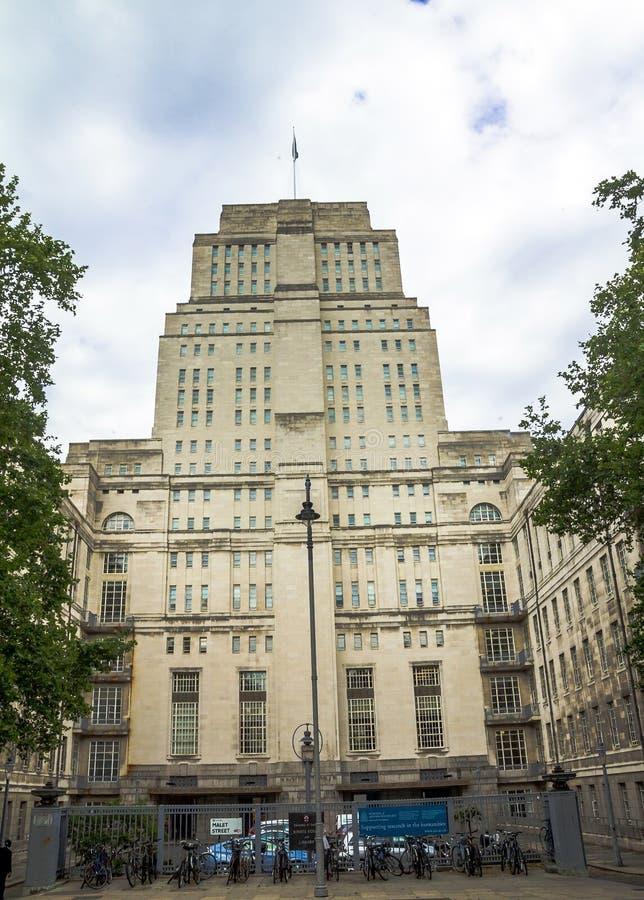 La biblioteca de la casa del senado en Londres fotografía de archivo