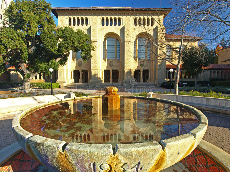 La biblioteca de la Universidad de Stanford imágenes de archivo libres de regalías