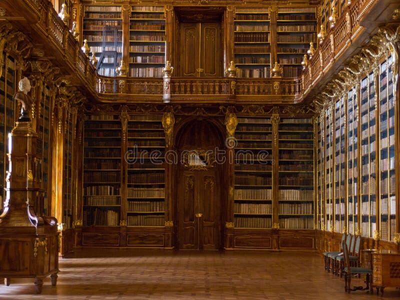 La biblioteca de Strahov en Praga. imagen de archivo libre de regalías