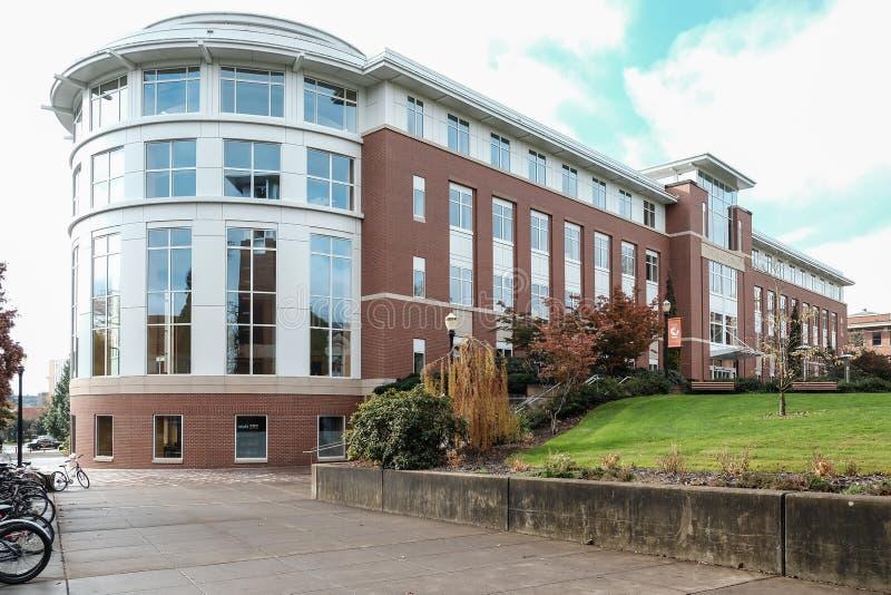 La biblioteca del valle en el campus universitario del estado de Oregon, Corval fotos de archivo