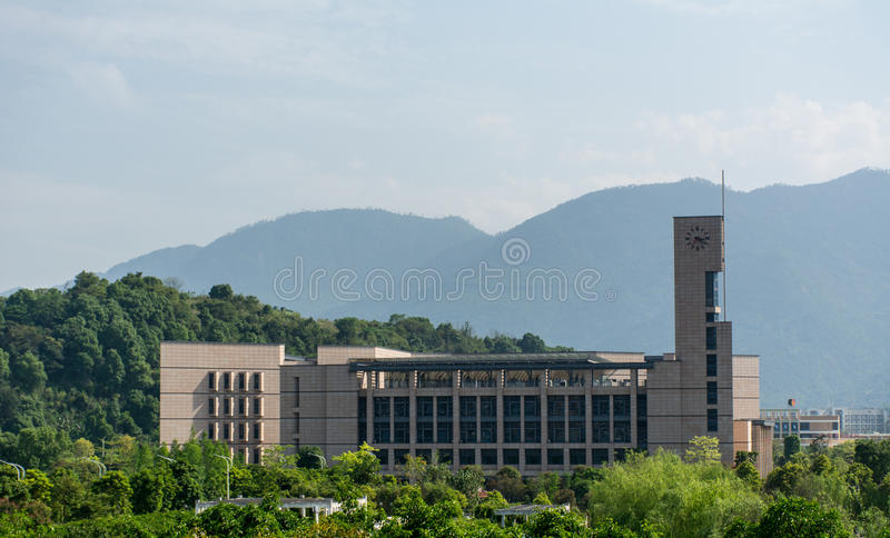 La biblioteca dell'università di Fuzhou immagini stock libere da diritti