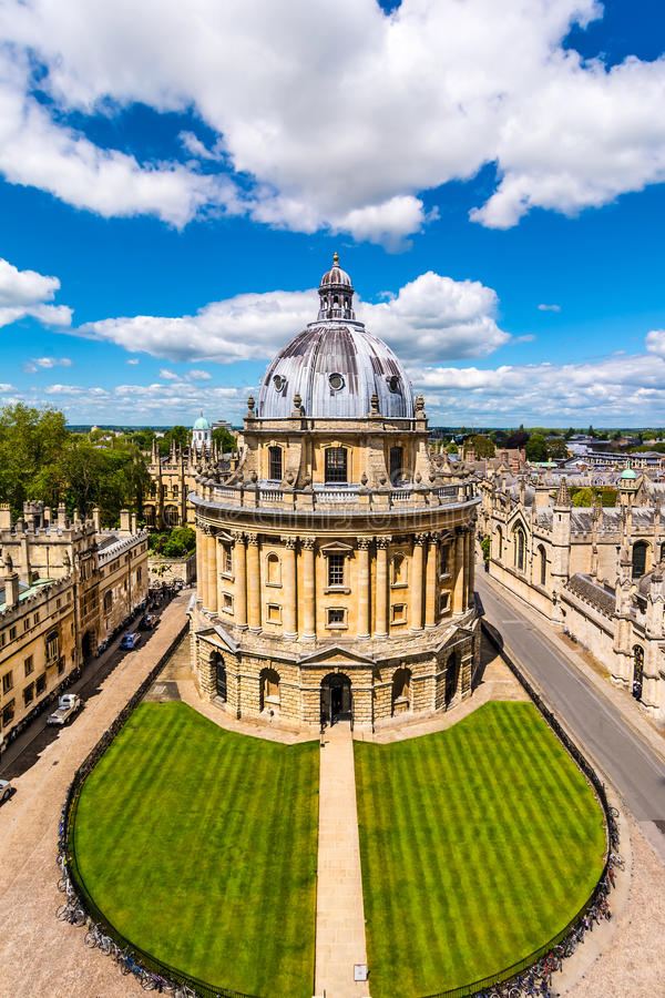 La biblioteca di Bodleian, università di Oxford fotografie stock
