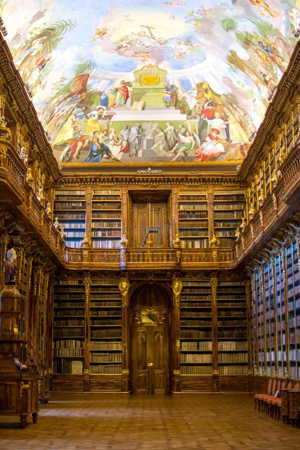 La biblioteca di Strahov a Praga fotografia stock libera da diritti