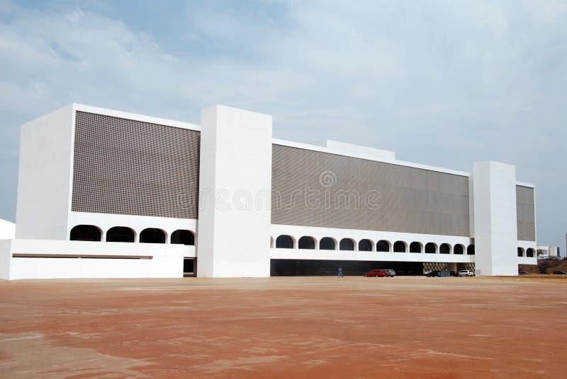 La biblioteca nacional en Brasilia imágenes de archivo libres de regalías