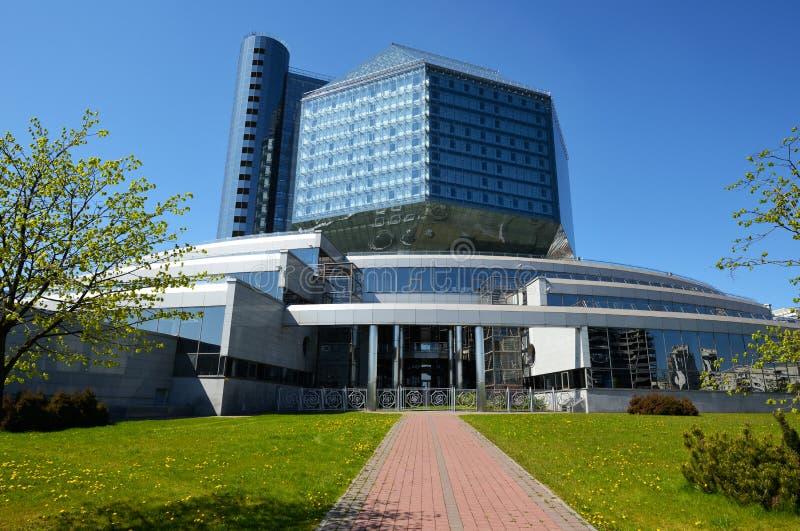 La biblioteca nazionale della Bielorussia a Minsk immagine stock libera da diritti