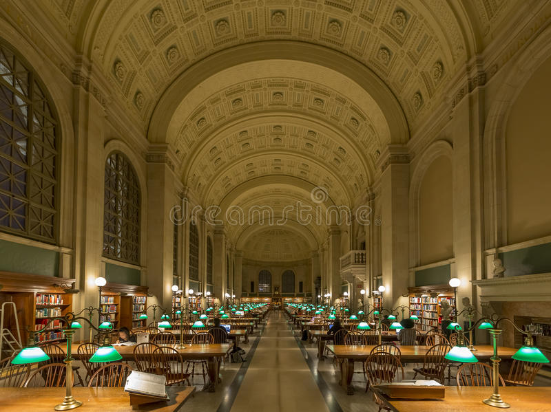 La biblioteca pubblica di Boston fotografia stock