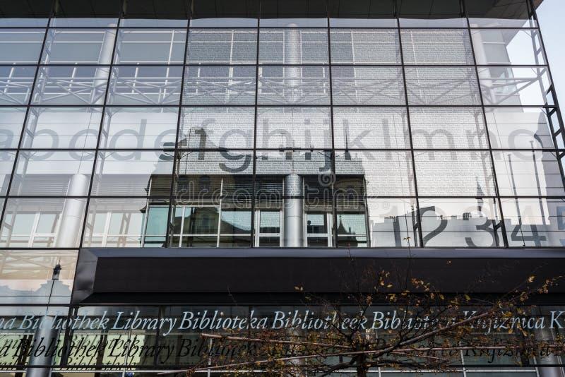 La Biblioteca regionale di ricerca di Liberec architettura in vetro fotografia stock