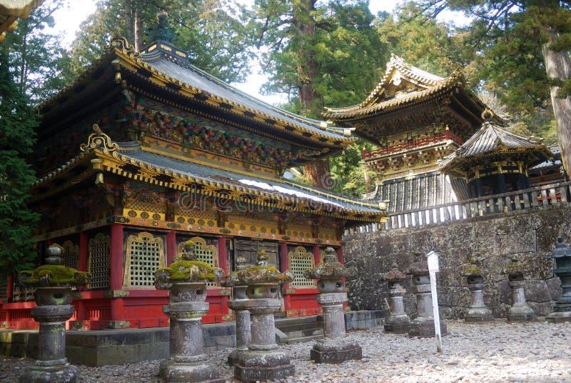 La biblioteca santa de Sutra, Nikko, Japón imagen de archivo