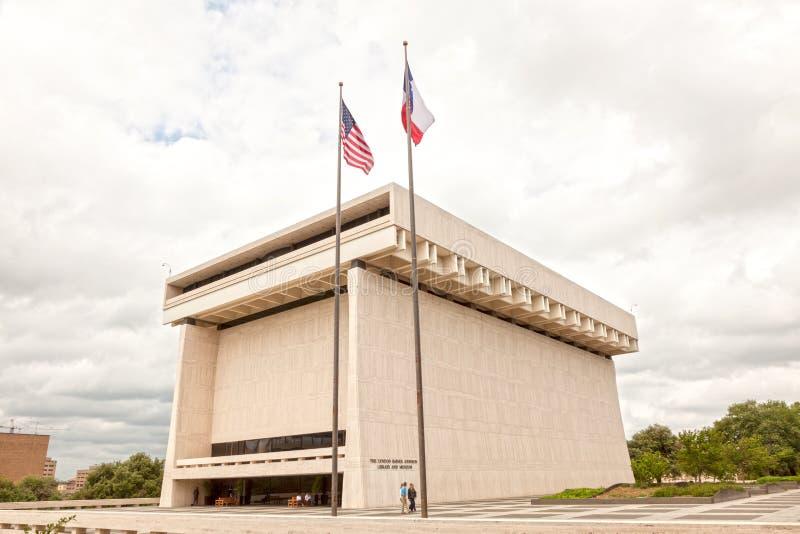 La biblioteca y el museo en Austin, Tejas de LBJ foto de archivo