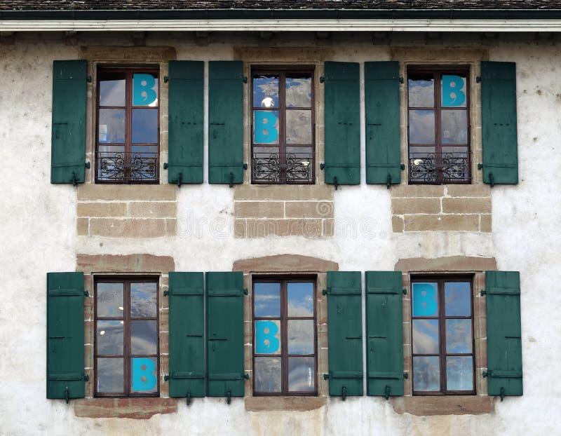 La bibliothèque de Nyon, Suisse dans un plan rapproché photo stock