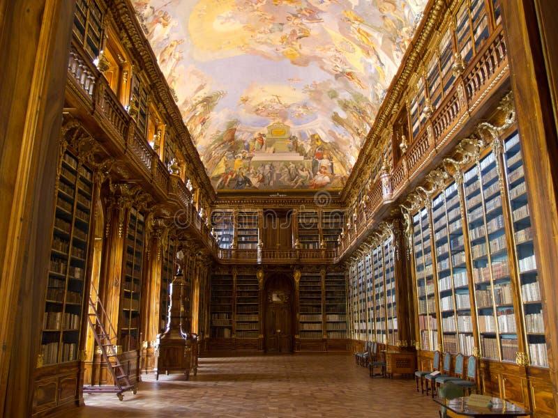 La bibliothèque de Strahov à Prague. image libre de droits