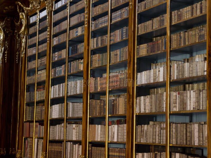 La bibliothèque de Strahov à Prague. images libres de droits