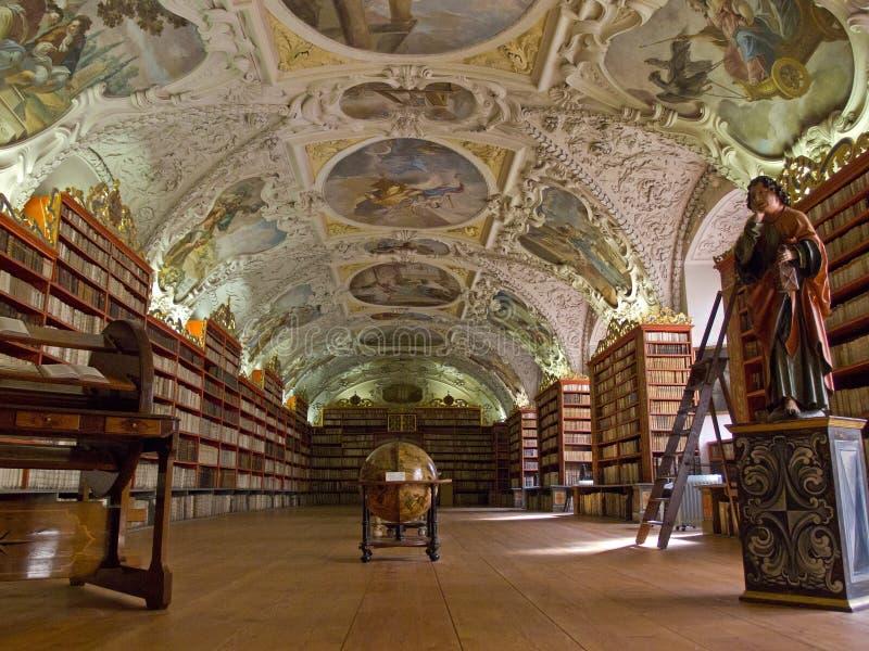 La bibliothèque de Strahov à Prague. photos libres de droits