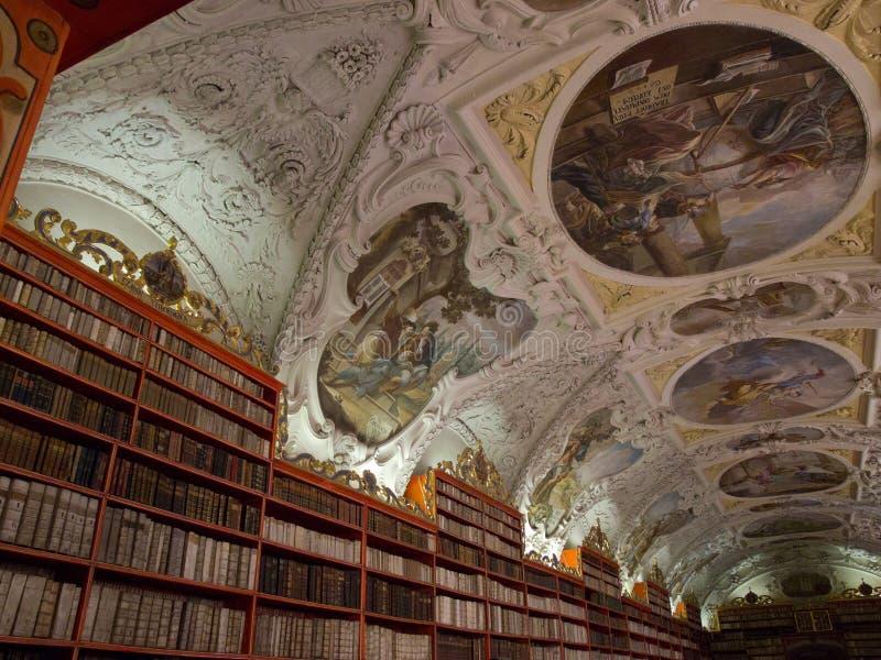 La bibliothèque de Strahov à Prague. photographie stock libre de droits