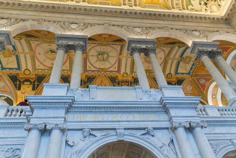 La Bibliothèque du Congrès images libres de droits