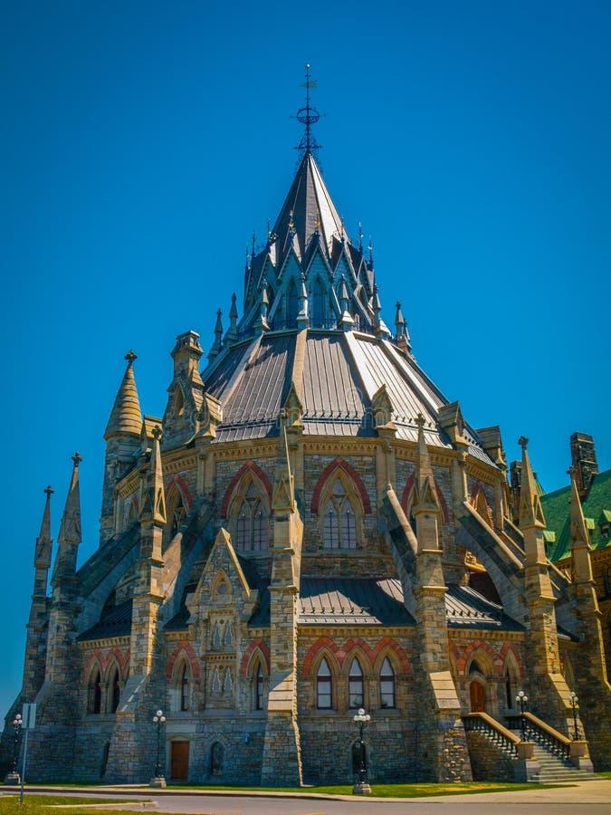 La bibliothèque du Parlement canadien image stock