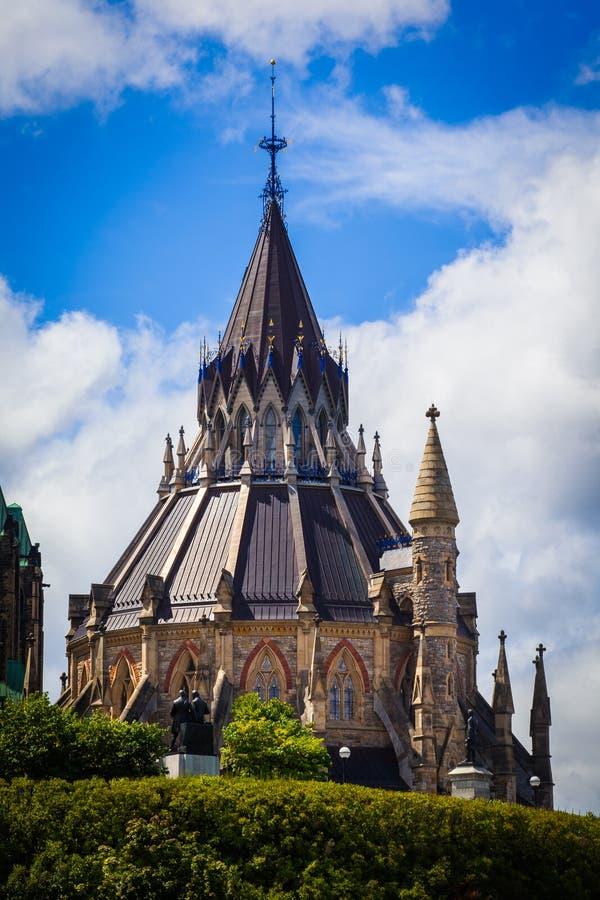 La bibliothèque du Parlement, colline du Parlement, Ottawa, Canada photo stock