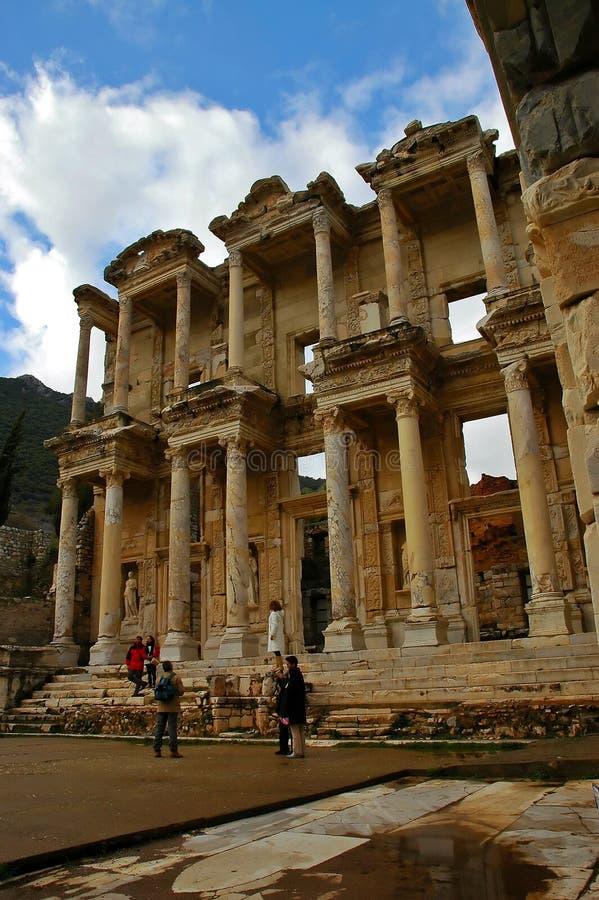 La bibliothèque grande d'Ephesus photo stock