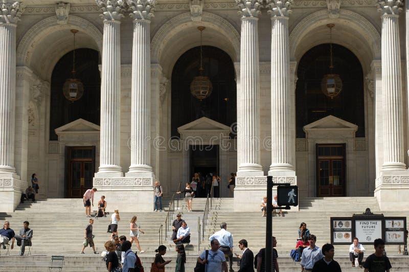 La bibliothèque publique de New York City images libres de droits