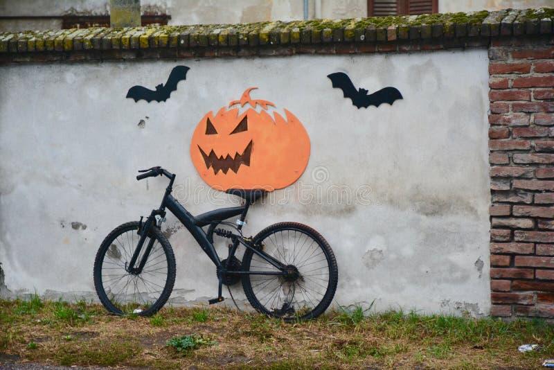 La bici negra fotos de archivo libres de regalías