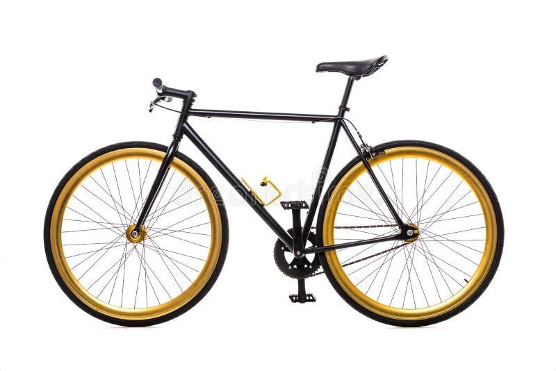 La bicicleta de la ciudad fijó el engranaje aislado en el fondo blanco fotografía de archivo