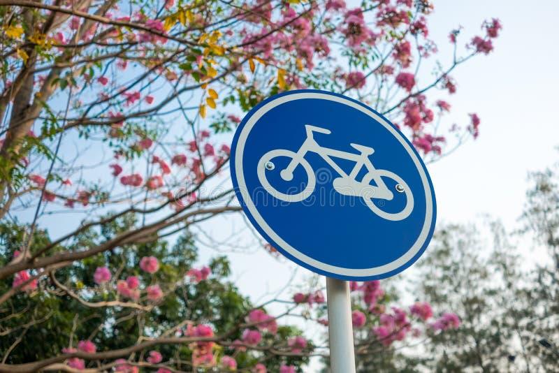 La bicicleta firma adentro el parque foto de archivo libre de regalías