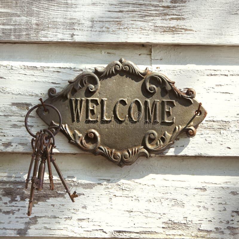 La bienvenue se connectent le mur. photos libres de droits
