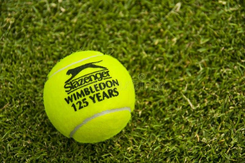 La bille de tennis officielle de Wimbledon photographie stock libre de droits