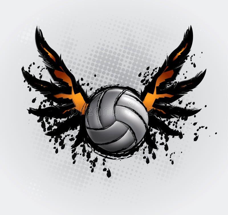 La bille de volleyball a placé 6 illustration de vecteur